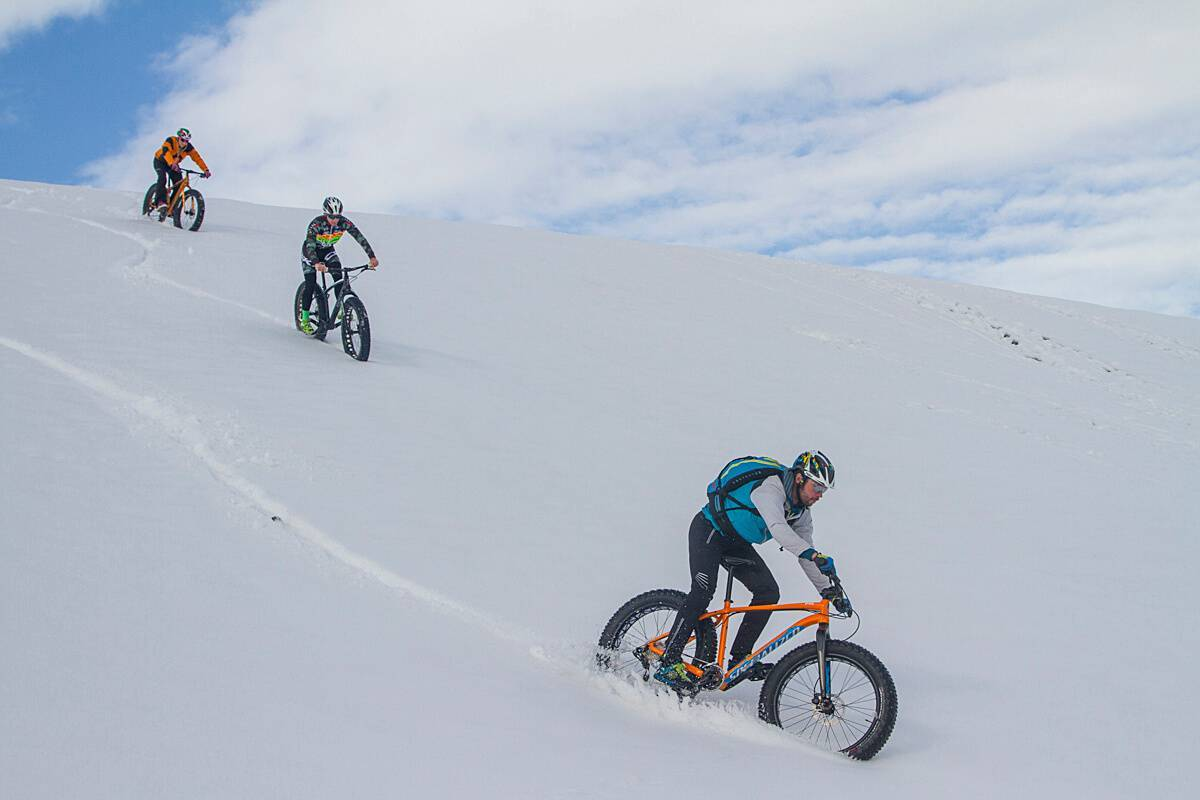 Walk with the Fat Bike in Livigno