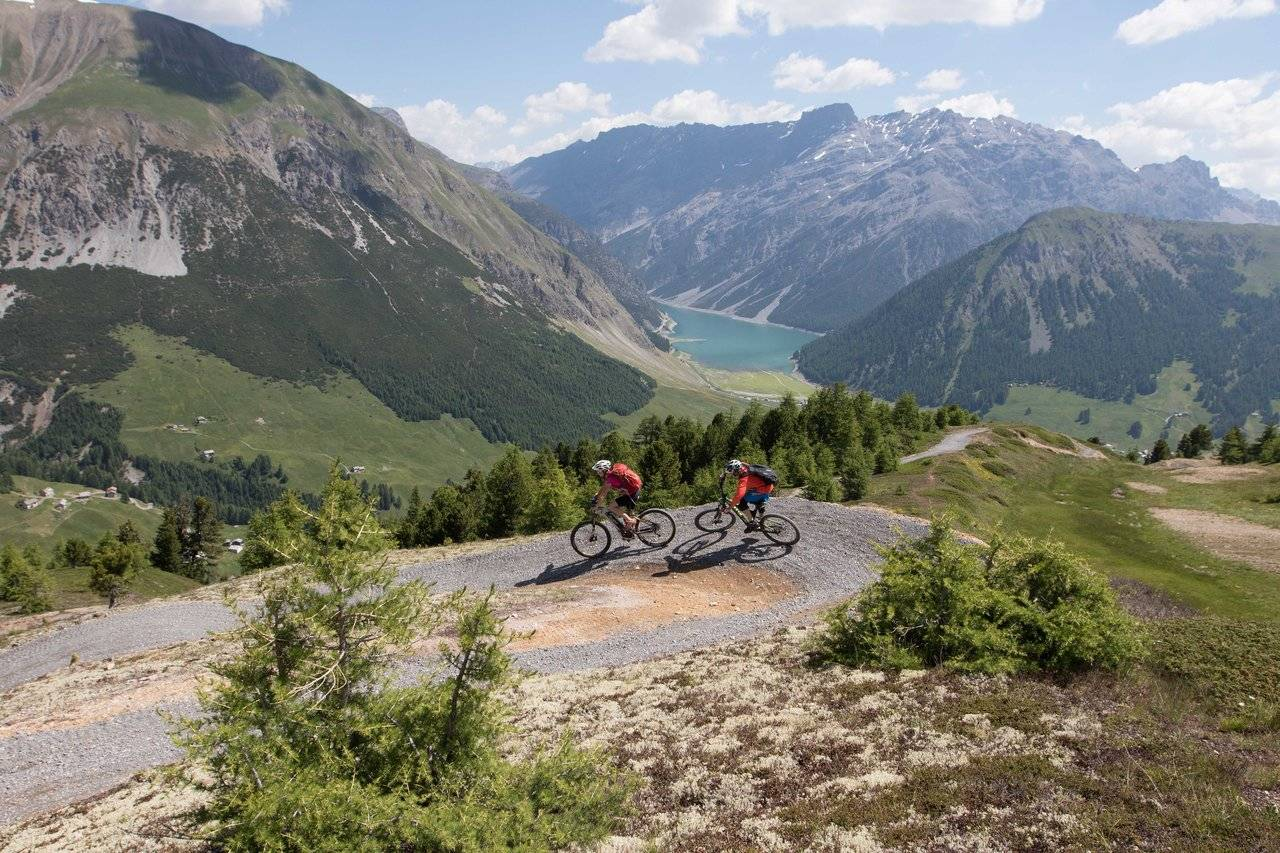 Mountain Bike path in Livigno
