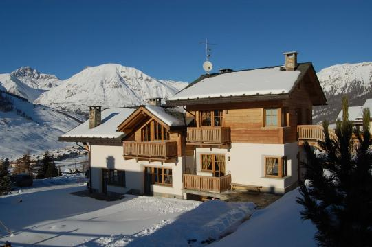 Winter landscape with Chalet Monteneve